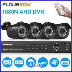 1TB HDD 8CH 1080N AHD DVR + 4 x 3000TVL Camera CCTV Outdoor Security System Kits