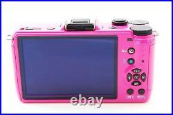 419shot PENTAX Q7 12.4 MP Digital Camera Custom Pink Color with 5-15mm 02 Lens