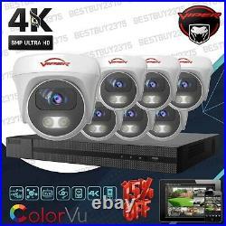 4k Colorvu Cctv Security System 8 Channel Kit 8mp Viper Pro Tvi CVI Ahd Cameras