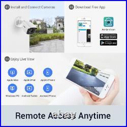 ANNKE 8CH 4K Video DVR Color 8MP CCTV Camera Night Vision Home Security System