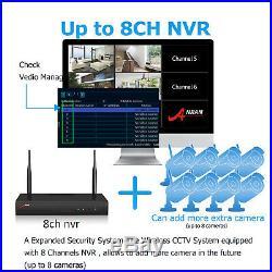 ANRAN 1080P Security Camera System Wireless Home Audio CCTV 8CH Outdoor Night IR