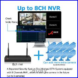 ANRAN Security Camera System Wireless CCTV 5MP NVR 4 6 8PCS 1TB HDD Home Outdoor