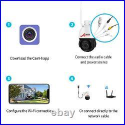 ANRAN Wireless CCTV System WiFi IP Security Camera HD PTZ Outdoor IR Night 1920P