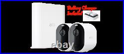 ARLO Pro 3 2K WiFi Security 2 Cameras System Dual Battery Charger Surveillance