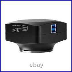 AmScope 12MP USB3 Digital Microscope Camera Back-illuminated Color CMOS C-Mount