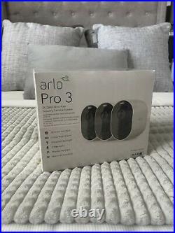 Arlo Pro 3 2k WiFi Security Camera System 3 Cameras White