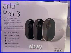 Arlo Pro 3 2k WiFi Security Camera System with 3 Cameras White