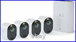 Arlo Ultra 4K UHD Indoor/Outdoor 4x Camera Security System, 3840x2160