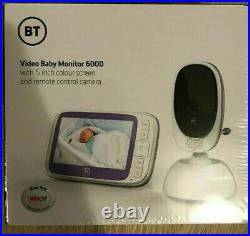 BT 088306 Video Baby Monitor 6000 5 inch colour screen and remote control camera