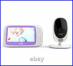 BT 4000 Video Baby Monitor 5 SCREEN Night Vision LULLABIES Zoom Pan Tilt CAMERA