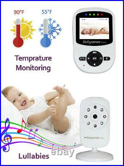 BabySense V24UK VIDEO BABY MONITOR Digital 2.4 Colour Display Screen ZOOM CAMERA