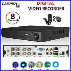 CCTV 2.0MP DVR 8ch Channel AHD 1080N Digital Video Recorder HD 720P VGA HDMI BNC