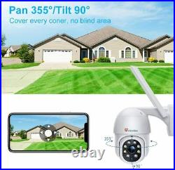 CCTV Camera Outdoor with Color Night Vision, Ctronics 1080P PTZ Digital Zoom Wif