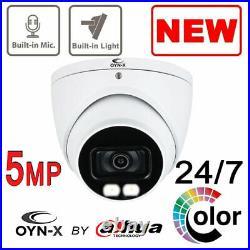 CCTV Kit OYN-X Dahua DVR 5MP 24/7 COLORVU CAMERAS COLOR AT NIGHT BUILT IN MIC