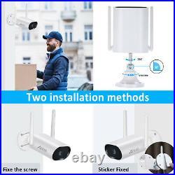 CCTV Security Camera System Wireless Home 3MP NVR 4 6 8PCS 1/2TB HDD Kit Audio