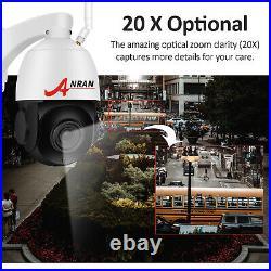 CCTV System Wireless Camera Home Outdoor 2Way Audio 5MP Pan/Tilt 20Zoom UK 64G
