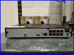 CCTV system QVIS VIPER 8 channel 4K 2TB HDD NVR & 2 QVIS 4k Turret cameras New