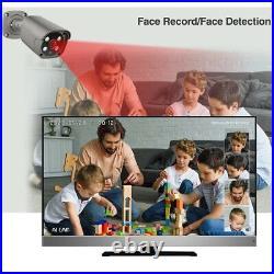 Camera CCTV 4CH Alarm Complete System 5MP Security Outdoor Audio Digital Video