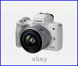 Canon EOS M50 Mark II Mirrorless Digital Camera with 15-45mm Lens White Color UK
