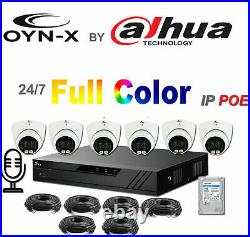 Colorvu Ip Cctv System Kit Onyx Dahua Day And Night Colour Image 4mp Poe Uk Firm