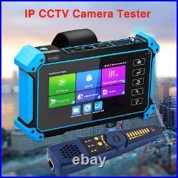 Digital 5'' 8MP IPC Camera Tester Monitor AHD CVI TVI CVBS POE PTZ Wire Tracer
