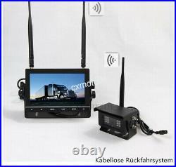 Digital Wireless Reversing Camera Kit, 7 COLOUR Monitor for RV Bus Truck Caravan