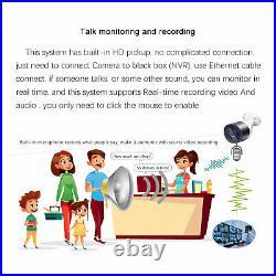 Eyes. Sys 2K 4pcs 5mp ARRAY LED AUDIO DOME Camera 8CH POE Sound NVR CCTV SYSTEM