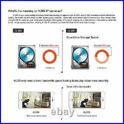 Eyes. Sys 6PCS HD 5MP ARRAY LED Audio HD Camera 8CH POE NVR CCTV Security System