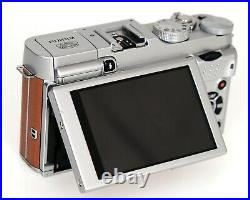 Fujifilm Fuji X-A2 digital mirrorless camera body in camel (tan colour) CSC