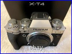 Fujifilm X-T4 Digital Camera Body Silver Color Mint