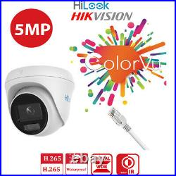 Hikvision Colorvu 5mp Poe Cctv System Ip Camera 30m White Light Outdoor Nvr Kit