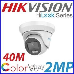 Hikvision Dvr 4k 2mp Colorvu Cameras Night Vision Cctv System Kit 1tb Uk