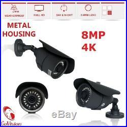 Hikvision Hilook Dvr 8mp 4k Ultra Hd Cctv Cameras Night Vision Security Full Kit
