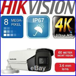 Hikvision System 4k 8mp Cctv Hdtvi Bnc Camera 3.6mm Lens 60m Exir Night Vision