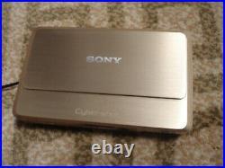 LikeNew SONY CyberShot DSC-TX9 Digital Camera rare Gold Color
