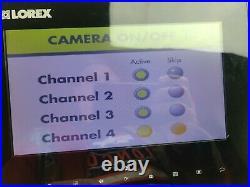 Lorex Sd Live Monitor Plus Four Cameras. Wl2930 Mc2731 Digital Color