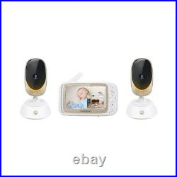 Motorola Comfort85-2 Connect 5 Color LCD Wifi Video Baby Monitor with 2 Cameras