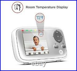 Motorola MBP483 DIGITAL VIDEO BABY MONITOR 2.8 Colour LCD Display IR CAMERA VGC