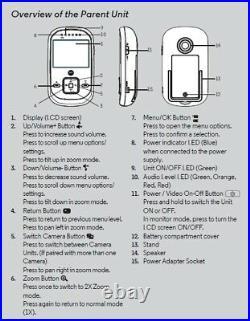 Motorola MBP622 Digital LCD COLOUR Video BABY MONITOR Night Vision Camera DECT