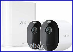 NEW ARLO Pro 3 WiFi wireless Security Camera System white 2 Cameras, VMS4240P