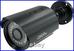 NEW Q-See QTH8053B 1080p Analog HD Bullet Color Security Camera (4-Pack) Black
