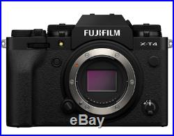 New Fujifilm X-T4 Digital Camera Body Black Color