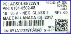 New Open Box American Dynamics ADSDU8E22WN SpeedDome Color PTZ CCTV Camera