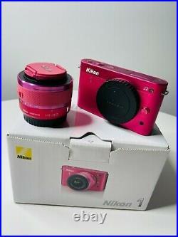 Nikon 1 J2 Zoom Lens Kit Rare Pink Colour Digital Camera 10-30mm Lens Mint