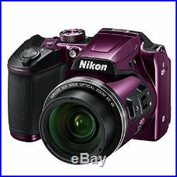Nikon COOLPIX Digital Camera B500 PU Plum Color 40x From Japan Genuine