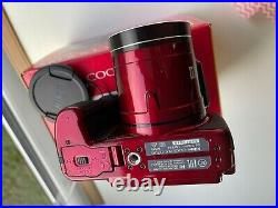 Nikon coolpix B700 digital camera. Colour Red, 20.3 megapixels, 60x Optical zoom