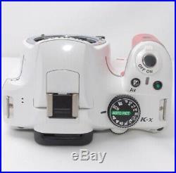 PENTAX Pentax K-x Digital SLR Camera Pink&white color Exc++++ From Japan