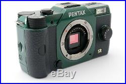 PENTAX Q Q7 12.4 MP Digital Camera Green Rare Color with Battery Charger Strap etc