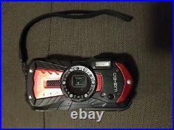 Ricoh WG-60 16.0MP Digital Camera Carbon Red Color