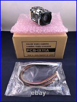 SONY FCB-IX11A 1/4 COLOR (NTSC) MINIATURE BLOCK CAMERA With 10X OPTICAL, 4X DIGIT